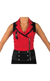 Click for more information about Red And Black Vest With Zipper And Buckle