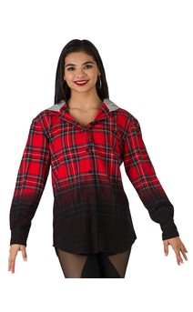 Click for more information about Dip Dye Plaid Shirt