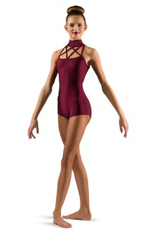 Click for more information about Mock Neck Strappy Leotard