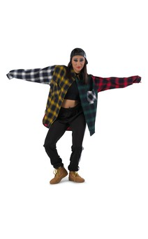 Click for more information about Colorblock Plaid Flannel Shirt