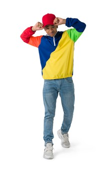 Click for more information about Relaxed Colorblock Windbreaker Hoodie