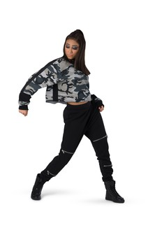Click for more information about Camo Mock Neck Crop
