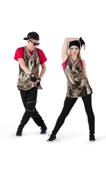 Click for more information about Gold Foil Athletic Tunic