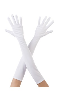 Click for more information about Long Gloves White