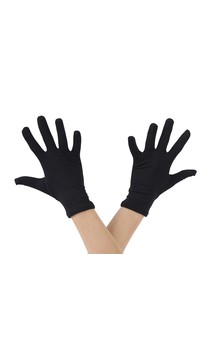 Click for more information about Short Black Nylon Gloves