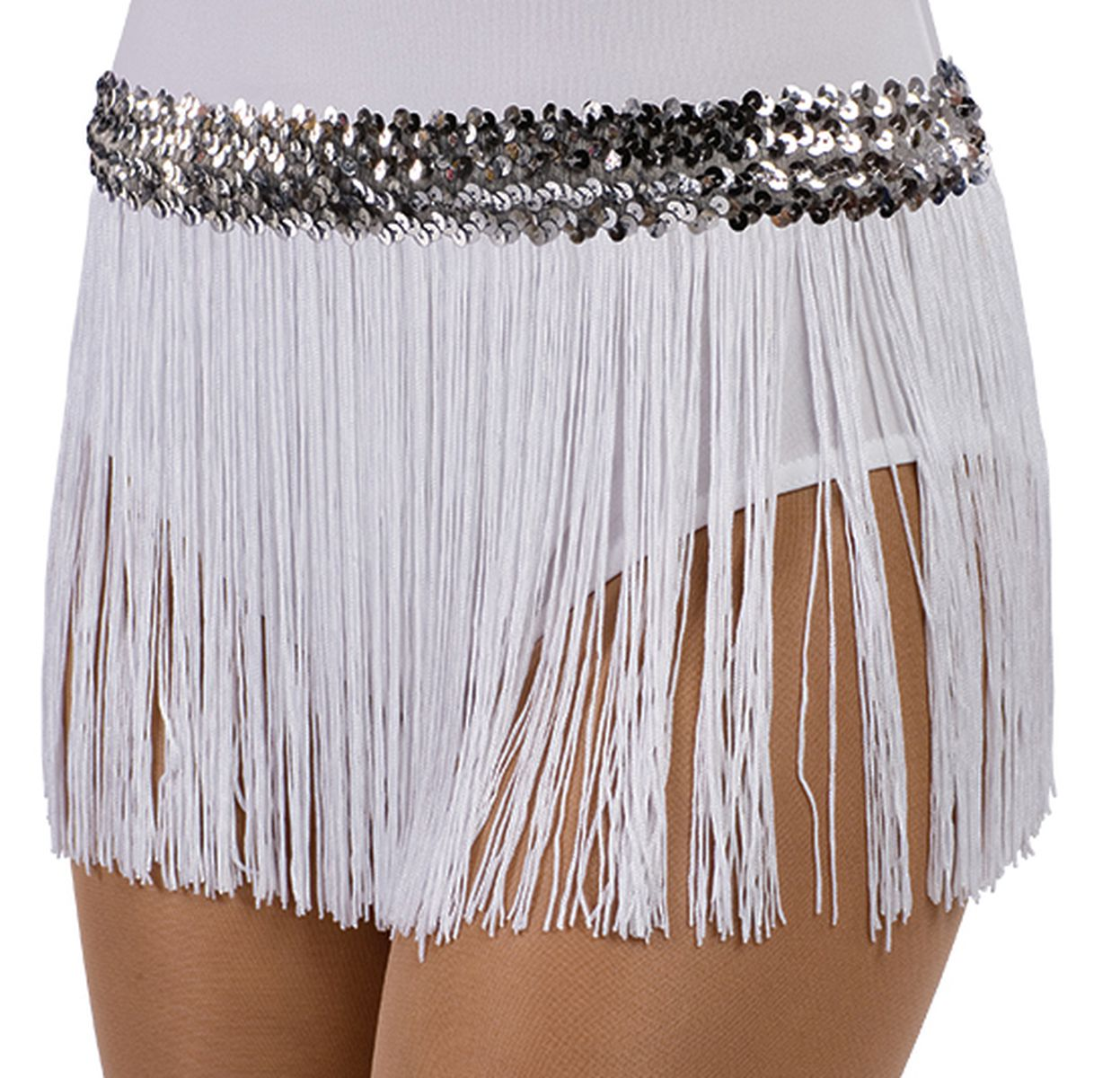 9 IN. FRINGE SKIRT BLACK/BLACK