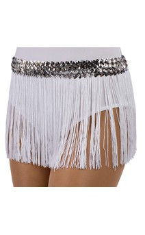 Click for more information about 9 In. Fringe Skirt Black/Black