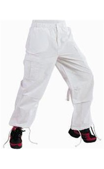 Click for more information about Hip Hop Cargo Pant White