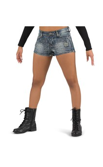Click for more information about Studded Denim Shorts