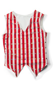 Click for more information about Striped Notched Vest
