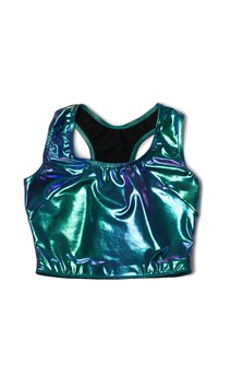 Click for more information about Foil Racerback Bralette