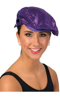 Click for more information about Sequin Flat Cap