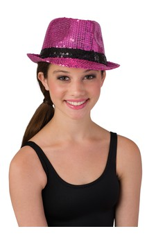 Click for more information about Sequin Fedora With Band