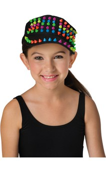 Click for more information about Multi Colored Spiked Cap