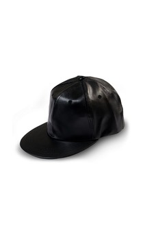 Click for more information about Faux Leather Baseball Cap
