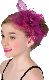 Click for more information about Flower And Feather Veil Headband