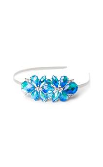 Click for more information about Aurora Borealis Rhinestone Flower Headband