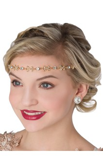 Click for more information about Rose Gold Rhinestone Headband