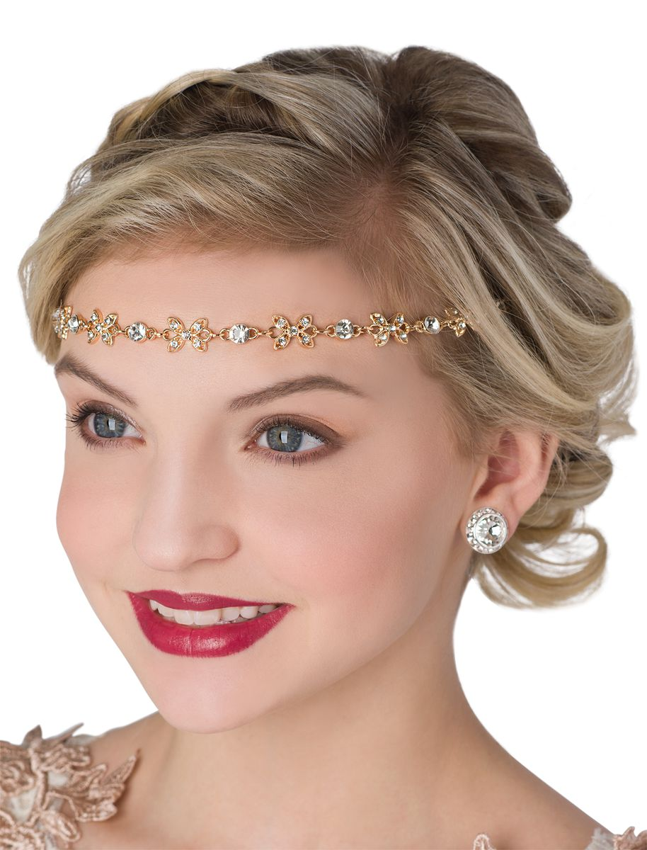 ROSE GOLD RHINESTONE HEADBAND