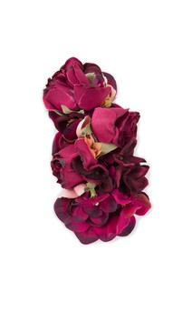 Click for more information about Burgundy Floral Headpiece