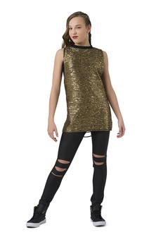 Click for more information about Metallic Back Slashed Tunic