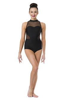 Click for more information about Mock Neck Cutout Leotard