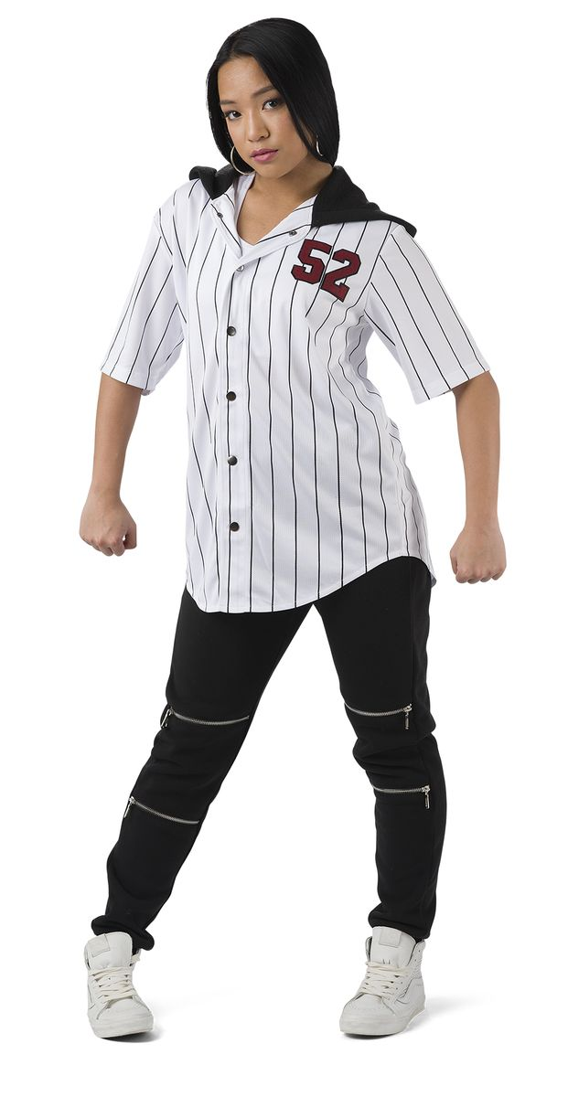 PINSTRIPE ATHLETIC JERSEY