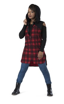 Click for more information about Hi-Low Plaid Sleeveless Shirt