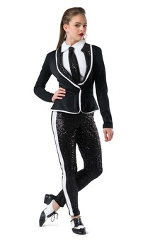 Click for more information about Fitted Spandex Tuxedo Jacket