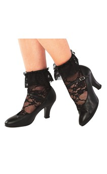 Click for more information about Black Lace Socks