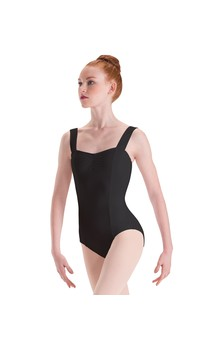 Click for more information about Pinch Front Wide Strap Princess Leotard Silkskyn