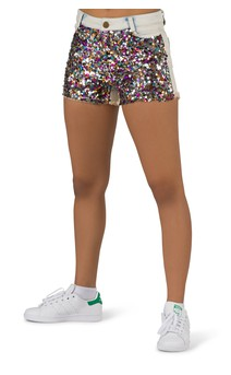Click for more information about Sequin Denim Shorts