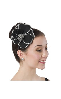 Click for more information about Rhinestone Floral Headband (Black)