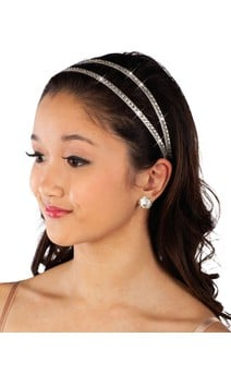 Click for more information about Stretch Head Band (Silver)