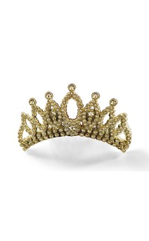 Click for more information about Gold Faux Rhinestone Tiara
