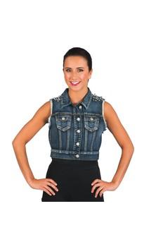 Click for more information about Studded Denim Vest