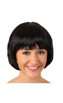 Click for more information about Black Bob Wig